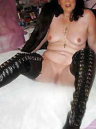 Latex, Pvc, Leather, Mature leather, Mature pvc, Milf mature