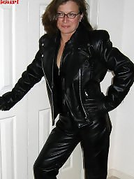 Leather, Latex, Mom, Pvc, Mature mom, Moms