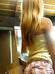 Teen amateur, Shorts, Short, Blonde teen