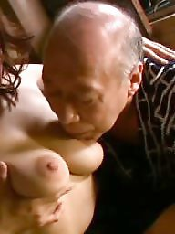 Old man, Man, Erotic, Asian wife, Asian old, Wifes tits