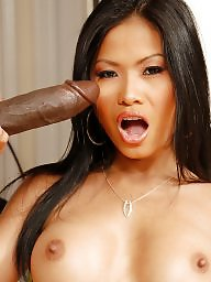 Black, Interracial, Cock, Black cock, Asian blowjob, Asian interracial