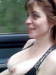Car, Mature boobs, Cars, Voyeur mature