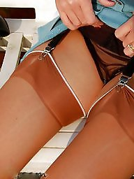 Nylon, Stockings, Vintage nylon, Amateur nylon, Vintage amateur, Nylon upskirt
