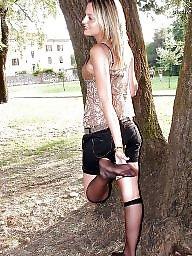Pantyhose upskirt, Upskirt stockings, Nylon stockings