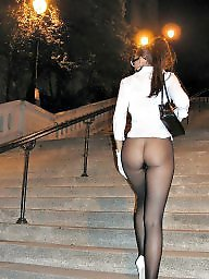 Stockings, Leggings, Legs, Night, Long legs, Upskirt stockings