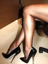 Upskirts, Heels, Upskirt stockings, Stockings voyeur
