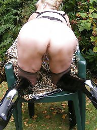 Pvc, Outdoor, Mature outdoor, Granny stockings, Mature stockings, Hot granny