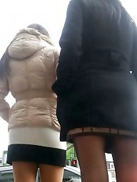 Voyeur, Skirt, Spy, Romanian, Brunette, Mini skirt