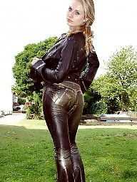 Leather, Lady milf, Milf leather, Leather ass