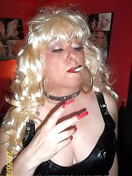 Smoking, Blonde, Nails, Smoke, Femdom milf