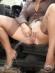 Spreading, Spread, Mature spreading, Mature upskirt, Legs, Mature spread