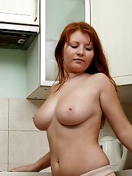 Russian, Kitchen, Hairy redhead, Hairy babe, ‌kitchen, Redheads