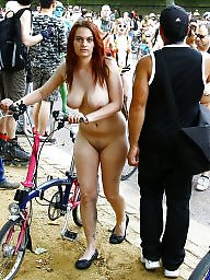Riding, Naked, Ride, Bike, Public voyeur
