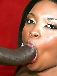 Sucking, Ebony blowjob