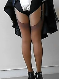 Nylon, Nylon upskirt, Vintage nylon, Tanned, Nylon stockings