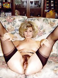 Spreading, Hairy, Spread, Stockings, Hairy mature, Nylon