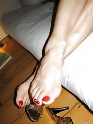 Feet, Teen, Stocking, Sperm, Stocking feet, Footjob