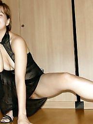 High heels, Brunette milf
