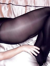 Amateur wife, Amateur pantyhose, Shiny pantyhose