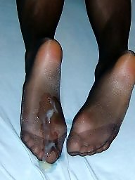 Sperm, Footjob, Stockings sperm