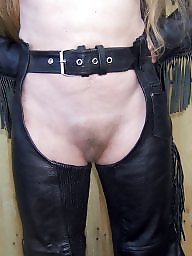 Leather, Nipples, Hairy amateur
