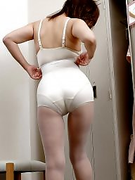 Girdle, Asian, Asian mature, Japan, Mature asian, Asian milf