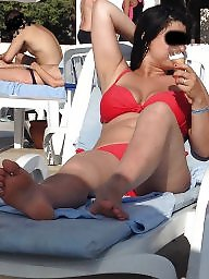 Feet, Turkish feet, Turkish milf, Candid, Turkish candid, Flashing tits