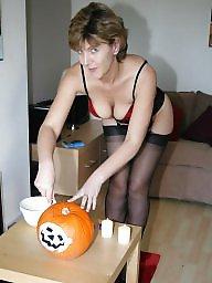 Uk mature, Mature uk, Halloween, Stockings mature, Stocking mature