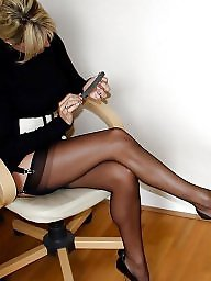 Tease, Heels, High heels, Teasing, Stockings tease