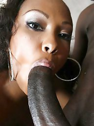 Interracial, Ebony blowjob, Interracial blowjob