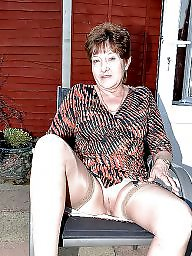 Hairy mature, Mature stocking, Stocking mature