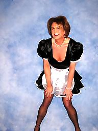 Satin, Maid, Stockings, Maids