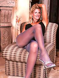 Pantyhose, Mature pantyhose, Blonde mature