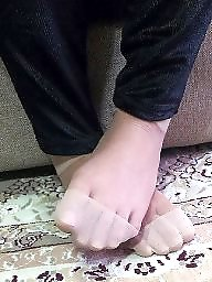 Turban, Nylon feet, Hijab feet, Nylon, Iran, Hijab nylon feet