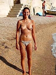 Tits, Beach, Amateur tits