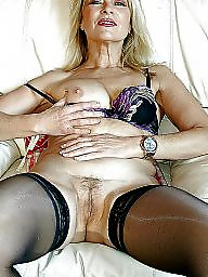 Gorgeous, Blonde milf, Hairy milf