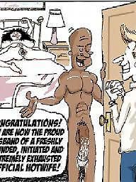 Cuckold, Interracial cartoon, Interracial cartoons, Cartoon, Cuckold cartoon, Interracial cuckold