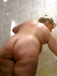 Moms, Matures, Mature hairy, Shower, Hairy mom, Voyeur mom