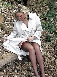 Legs, Upskirt stockings, Wood