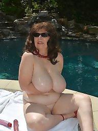 Pool, Milf mature, Mature boobs, Mature big boobs, Boob