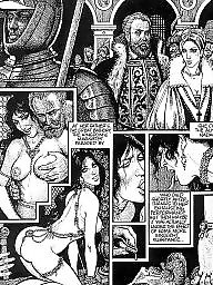 Comics, Comic, Red, Erotic, Vintage cartoon, Bdsm comics
