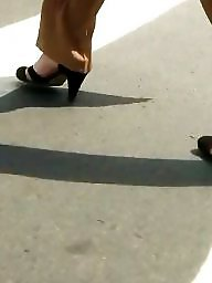 Shoes, Mature feet, Spy, Foot, Shoe, Hidden cam