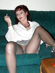 Older, Ladies, Upskirt stockings
