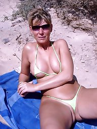 Bikini, Downblouse, Mature bikini, Underwear, Dressed, Teen dress