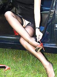 Car, Lady, Cars, Stockings car, Nylon