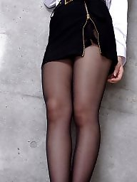 Pantyhose, Japanese, Black girls, Japanese girls