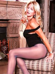 Stockings, Mature pantyhose, Pantyhose mature, Mature blonde, Blonde mature