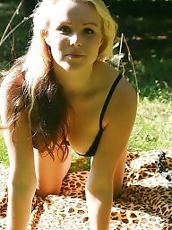 German, Outdoor, Blond, Outdoors, Blonde teen, German amateur