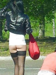 Hooker, Public, Hookers, Teen stockings, Road, Public teens