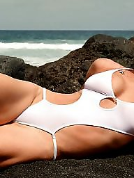 Beach, Bikini, Brunette, Babe, Micro bikini, Babes